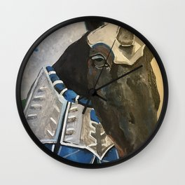 Abe; The Jousting Horse Wall Clock