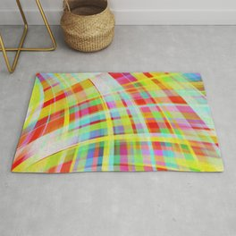 Moving Color Waves Fabric Rug