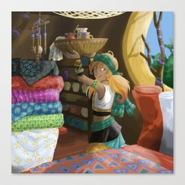 Paintings on textile Canvas Print