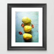 Three Pears Framed Art Print