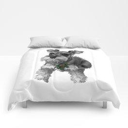 Christmas Schnauzer Comforters