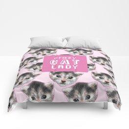 Crazy Cat Lady Comforters
