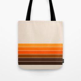 Golden Spring Stripes Tote Bag