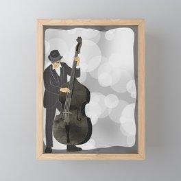 Double Bass Framed Mini Art Print
