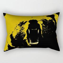 "TygerB.com ""Heated Grizzle"" Painting Rectangular Pillow"