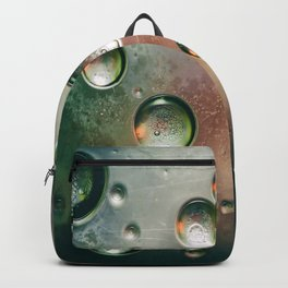 Organic Silver Oil Bubble Abstract Backpack