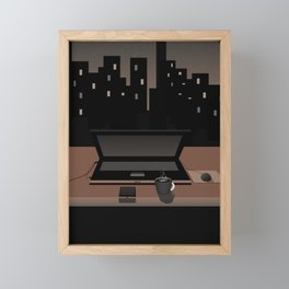 close your laptop and see the world Framed Mini Art Print