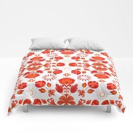 Fiesta Folk Red #society6 #folk Comforters