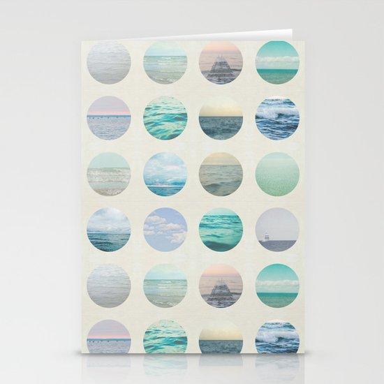Ocean Polka dot  Stationery Cards