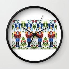 Nutcracker Blue Wall Clock