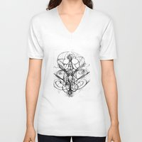 bee V-neck T-shirts featuring Bee. by sonigque