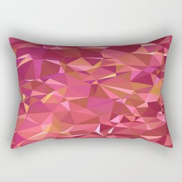 Triangles Red Rectangular Pillow