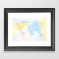 World Map Light Framed Art Print