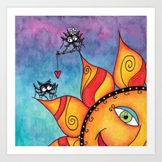 Spiders in Love Art Print