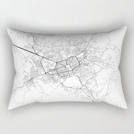 Minimal City Maps - Map Of Tirana, Albania. Rectangular Pillow