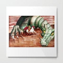 Saint George And The Dragon Metal Print