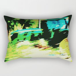 Tractor in a Field Rectangular Pillow