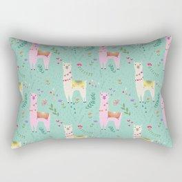 Llama Pattern Rectangular Pillow