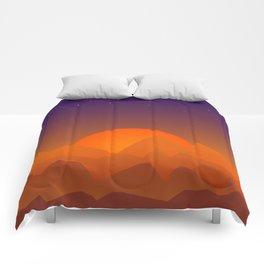 Slumbering Hills, Southwestern Landscape Art Comforters