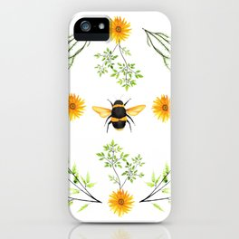 Bees in the Garden v.3 - Watercolor Graphic iPhone Case