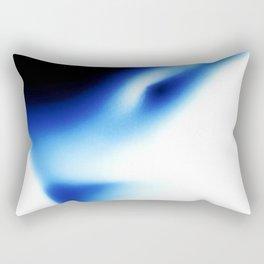 Nude Torso Black and Blue Rectangular Pillow