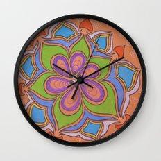 Drops and Petals 4 Wall Clock