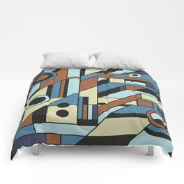 De Stijl Abstract Geometric Artwork 3 Comforters