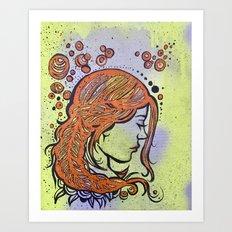 In my head Art Print
