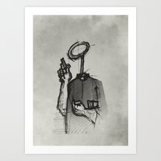 Trust With No Head And Half Finger! Art Print