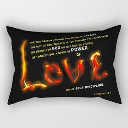 Love's Flame Rectangular Pillow