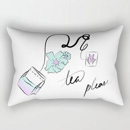 tea but blue Rectangular Pillow