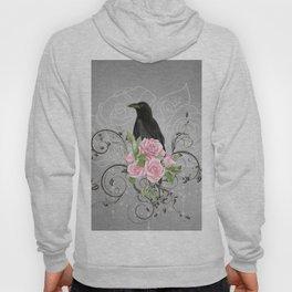 Wonderful crow with flowers Hoody