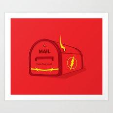 Faster than E-mail Art Print