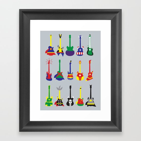 Guitar Heroes  Framed Art Print