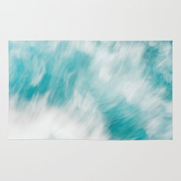 Turquoise Water Abstract Rug