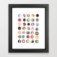 Moon Eclipse Framed Art Print