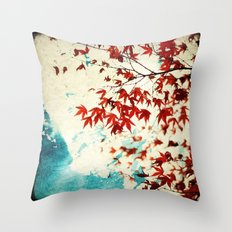 Automne Rouge Throw Pillow
