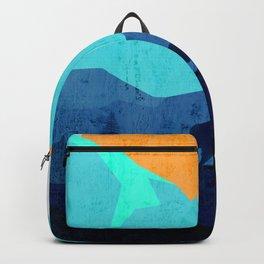 Wild mountain sunset landscape Backpack