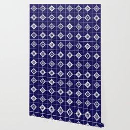 Talavera Mexican Tile – Porcelain Palette Wallpaper