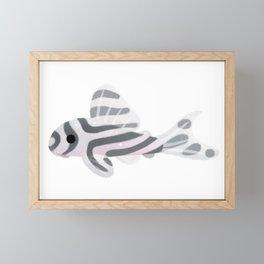 Pleco! - white Framed Mini Art Print