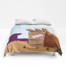 acme rocket crate Comforters