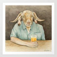 Goat Dad Art Print