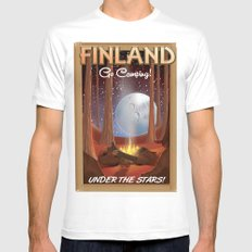 Finland camping poster Mens Fitted Tee MEDIUM White