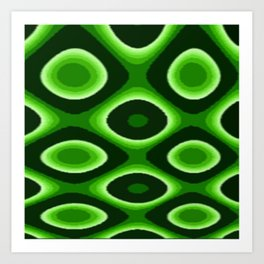 Green Dotty Art Print