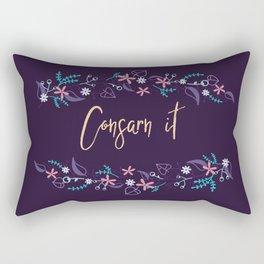 Consarn it! Rectangular Pillow
