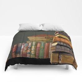 DECORATIVE  ANTIQUE LIBRARY, LEDGERS &  BOOKS ART Comforters