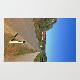 A long non-winding road | landscape photography Rug