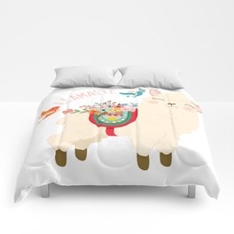 Llamaste - When A Llama Offers You A Respectful Greeting Comforters