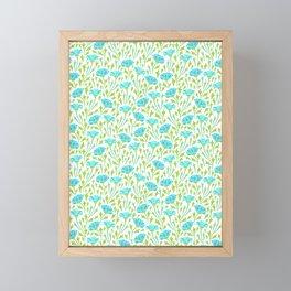 Blue chrysanthemums Framed Mini Art Print