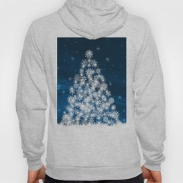 Blue Christmas Eve Snowflakes Winter Holiday Hoody